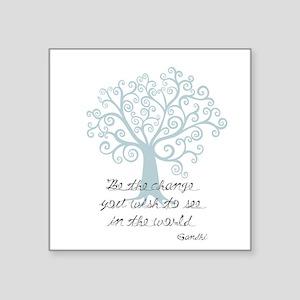 Be the Change Tree Sticker