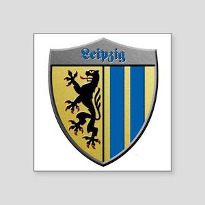 Leipzig Germany Metallic Shield Sticker
