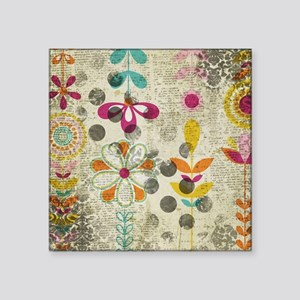 Bohemian Boho Flowers Sticker