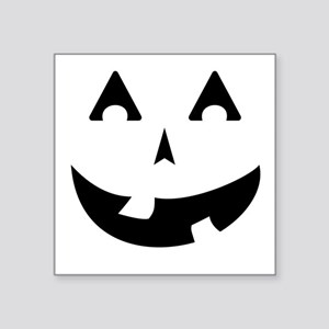 "Goofy Pumpkin (Black) Square Sticker 3"" x 3"""