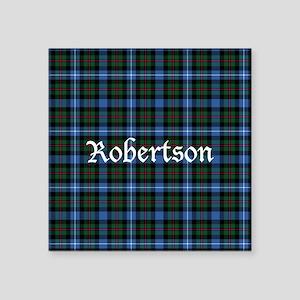 "Tartan - Robertson hunting Square Sticker 3"" x 3"""