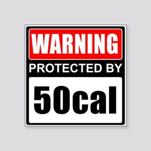 Warning 50cal Sticker