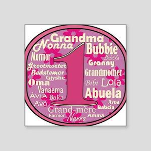 #1 Grandmother Sticker