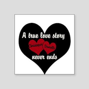Personalize True Love Story Sticker