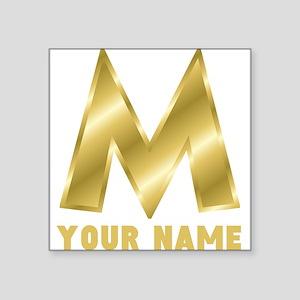 Custom Gold Letter M Sticker