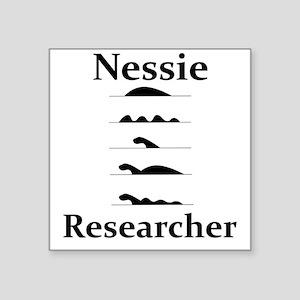 """Nessie Researcher Square Sticker 3"""" x 3"""""""