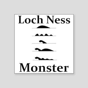 """Loch Ness Monster Square Sticker 3"""" x 3"""""""