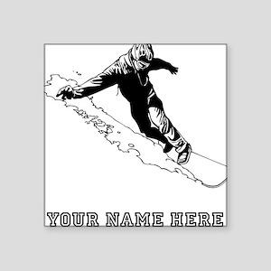 Custom Downhill Snowboarder Sticker