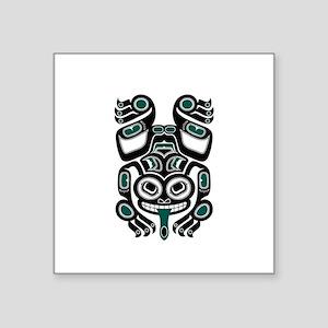 Teal Blue and Black Haida Tree Frog Sticker