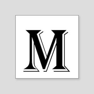 Fancy Letter M Sticker