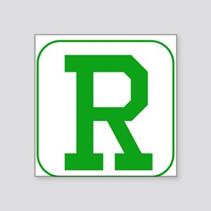 Green Block Letter R Sticker