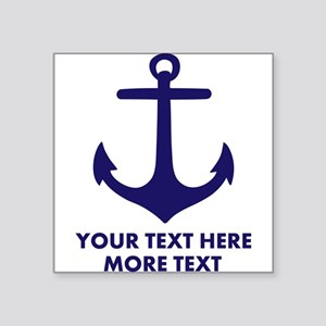 Nautical boat anchor Sticker
