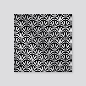 Elegant Black and Silver Art Deco Sticker