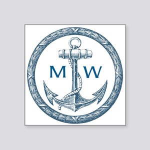 Anchor, Nautical Monogram Sticker