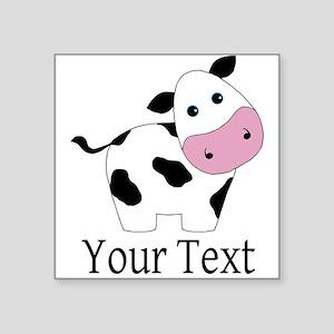 Personalizable Black and White Cow Sticker