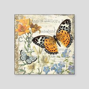modern vintage butterfly Sticker