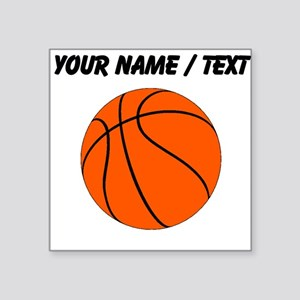 Custom Orange Basketball Sticker