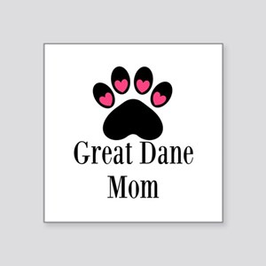 Great Dane Mom Paw Print Sticker