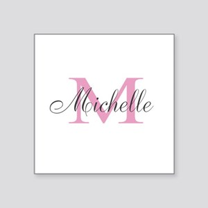 Personalized pink monogram Sticker