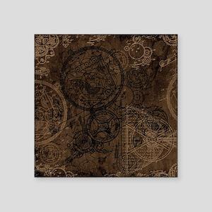 Clockwork Collage Brown Sticker