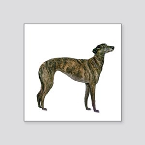"Greyhound (brindle) Square Sticker 3"" x 3"""