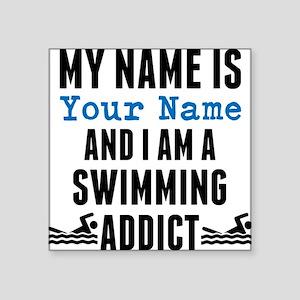 Swimming Addict Sticker
