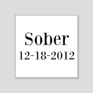 Personalizable Sober Sticker