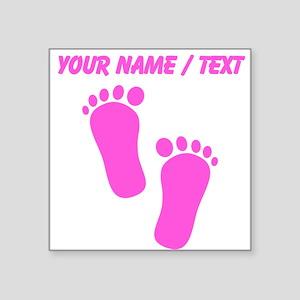 Custom Pink Baby Feet Sticker