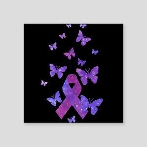 Purple Awareness Ribbon Sticker