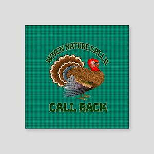 """Turkey Call Square Sticker 3"""" x 3"""""""