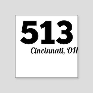 Area Code 513 Cincinnati OH Sticker