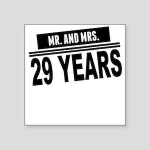 Mr. And Mrs. 29 Years Sticker