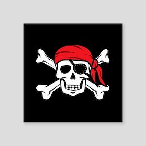 Jolly Roger Pirate (on Black) Sticker