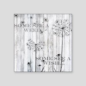 """Dandelion Wish Square Sticker 3"""" x 3"""""""