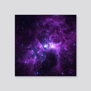 """Purple Galaxy Square Sticker 3"""" x 3"""""""