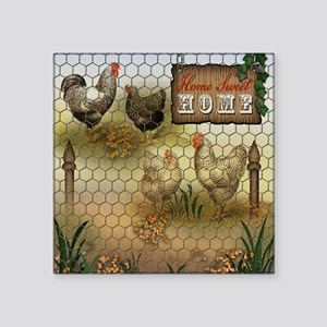 Home Sweet Home Chickens and Roosters Sticker