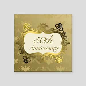 Fancy 50th Wedding Anniversary Sticker