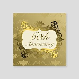 Fancy 60th Wedding Anniversary Sticker