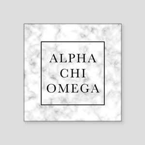 "Alpha Chi Omega Marble FB Square Sticker 3"" x 3"""
