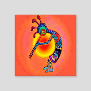 "Lizard Kokopelli Sun Square Sticker 3"" x 3"""