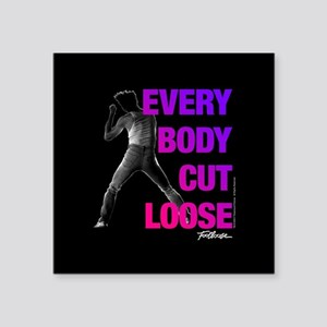 """Footloose Everybody Cut Loo Square Sticker 3"""" x 3"""""""