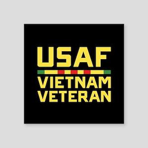 "USAF Vietnam Veteran Square Sticker 3"" x 3"""