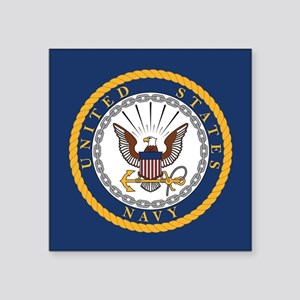 "United States Navy Emblem Square Sticker 3"" x 3"""