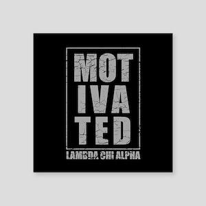 """Lambda Chi Alpha Motivated Square Sticker 3"""" x 3"""""""