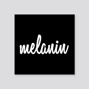 "Melanin Square Sticker 3"" x 3"""