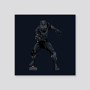"""Black Panther Stance Square Sticker 3"""" x 3"""""""