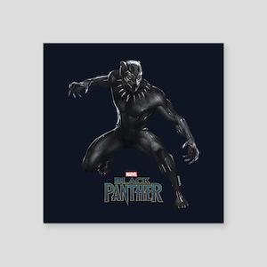 "Black Panther Pose Square Sticker 3"" x 3"""