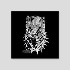 "Black Panther Mask Square Sticker 3"" x 3"""
