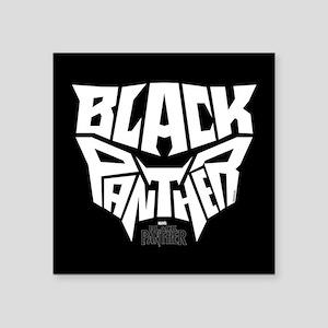 "Black Panther Logo Square Sticker 3"" x 3"""