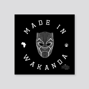 "Black Panther Made Square Sticker 3"" x 3"""